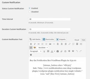 Notification Box - Custom