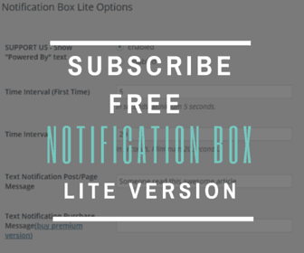 NOTIFICATION BOX LITE SUBSCRIBE