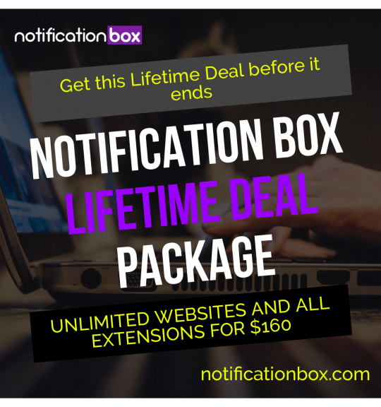 Notification Box Lifetime Deal Package Square