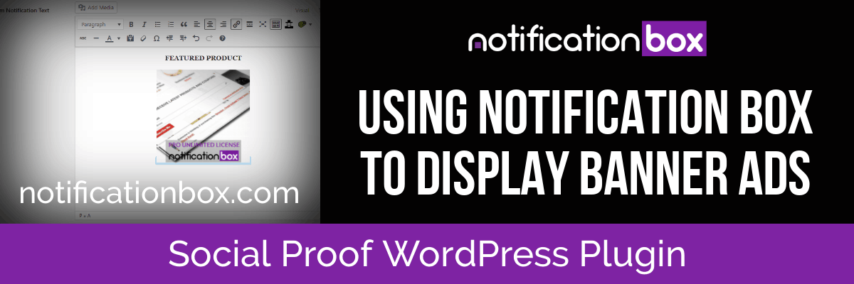 Notification Box Social Proof WordPress Plugin Banner Header